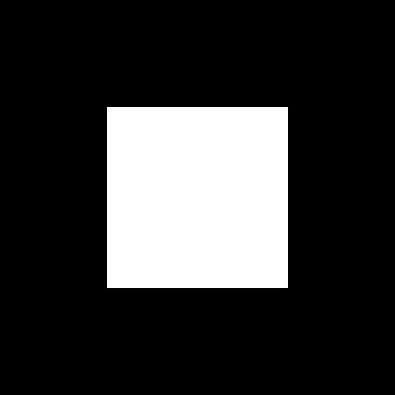「停止」ボタンのアイコンイラスト(丸・白黒)