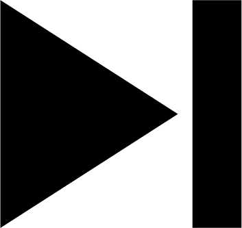 「スキップ」ボタンのアイコンイラスト(白黒)