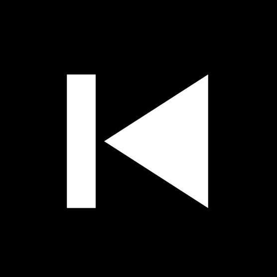 「スキップ(前へ)」ボタンのアイコンイラスト(丸・白黒)