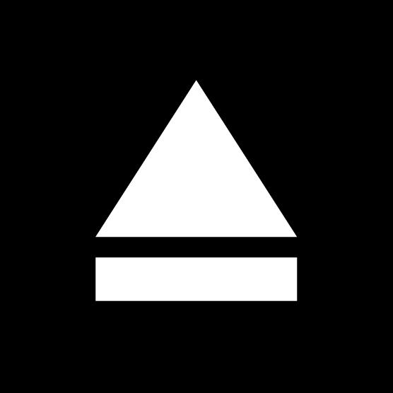「取り出し」ボタンのアイコンイラスト(丸・白黒)