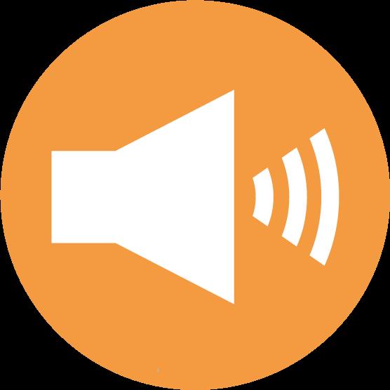 「音量」ボタンのアイコンイラスト(丸)