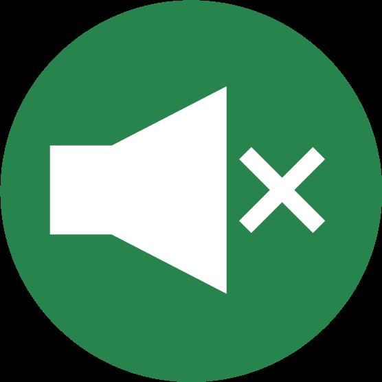 「消音」ボタンのアイコンイラスト(丸)