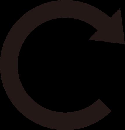 「更新」ボタンのアイコンイラスト(白黒)