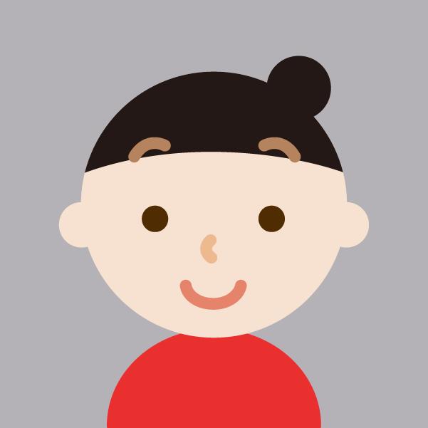 プロフィールアイコンのイラスト(女性)4