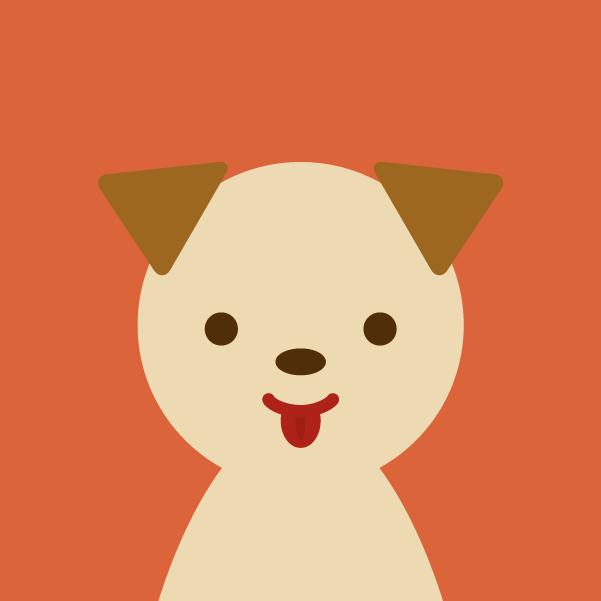 プロフィールアイコンのイラスト(犬)1