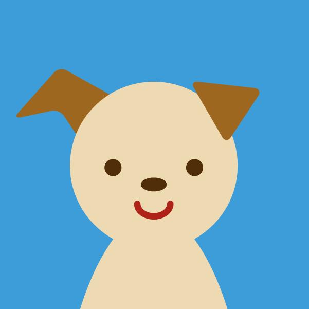 プロフィールアイコンのイラスト(犬)2