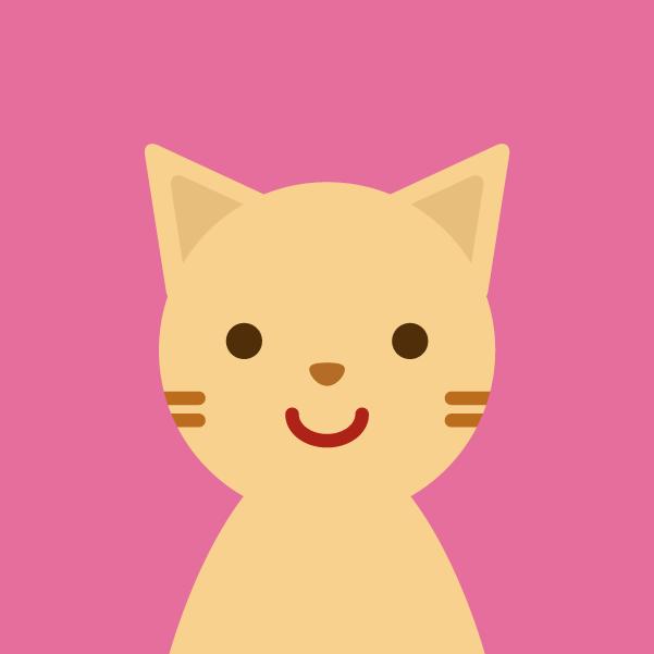 プロフィールアイコンのイラスト(猫)1
