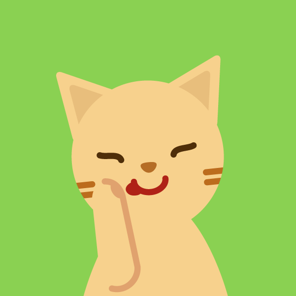 プロフィールアイコンのイラスト(猫)2