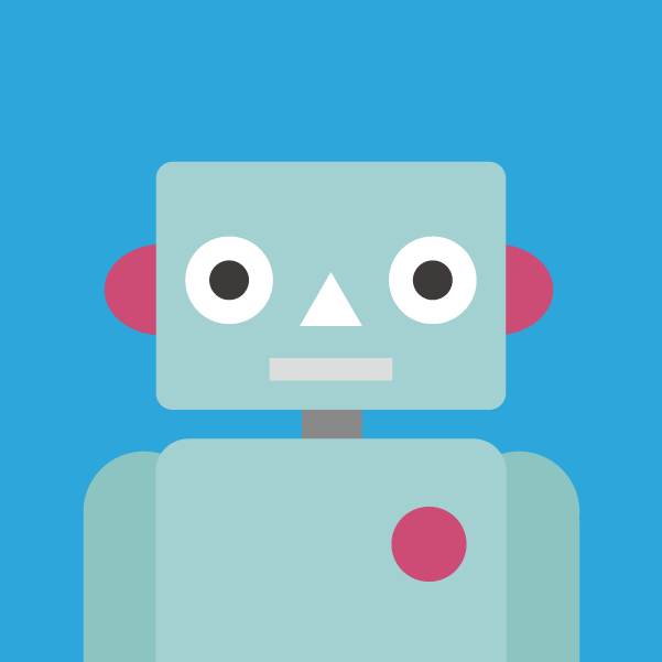 プロフィールアイコンのイラスト(ロボット)1