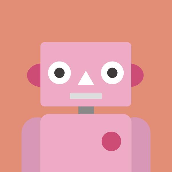 プロフィールアイコンのイラスト(ロボット)2