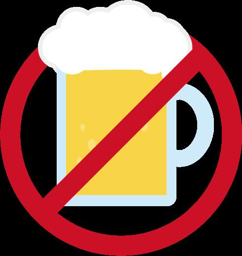 ビール禁止のアイコンイラスト