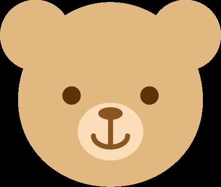 薄茶色のクマのアイコンイラスト1
