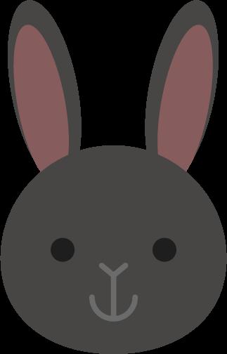 黒ウサギのアイコンのイラスト1