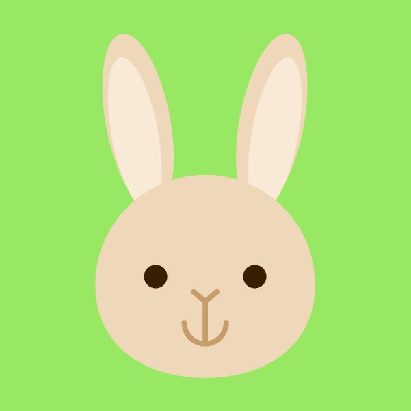 茶ウサギのアイコンのイラスト2