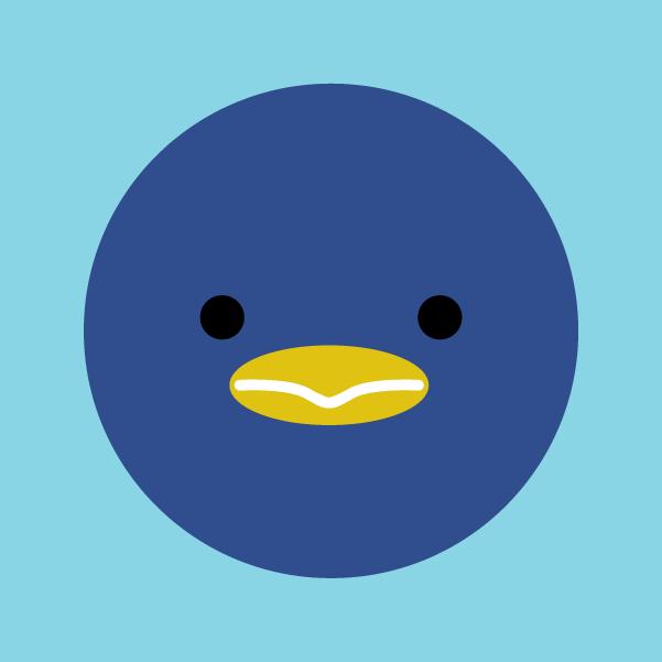 ペンギンのアイコンイラスト2
