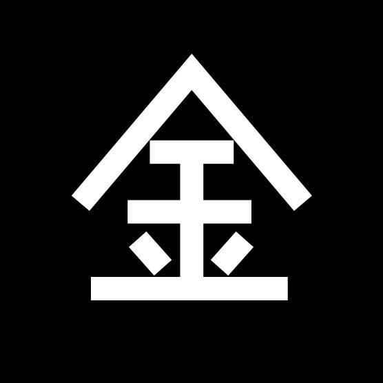 金曜日の丸アイコンイラスト(白黒)