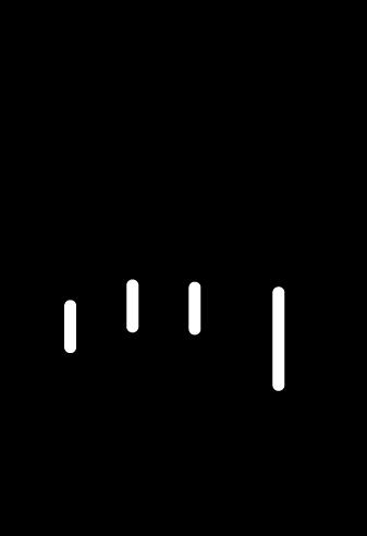 タップのアイコンイラスト(左手・白黒)