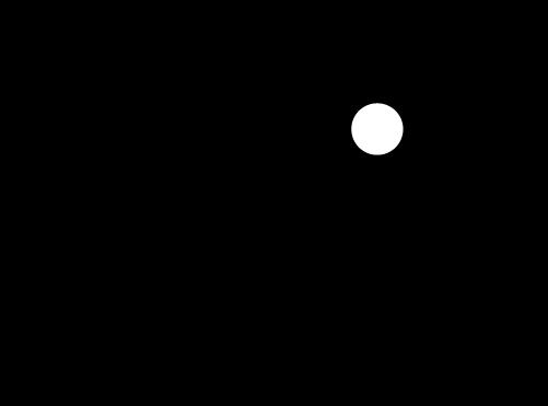 大声で喋る横顔のアイコンイラスト(白黒)