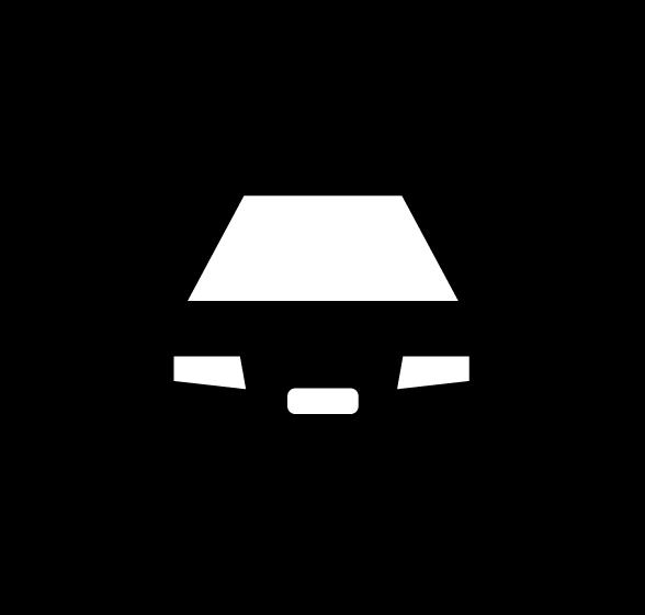 カーシェアリングのアイコンイラスト(白黒)2