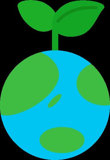 エコのアイコンイラスト(地球)