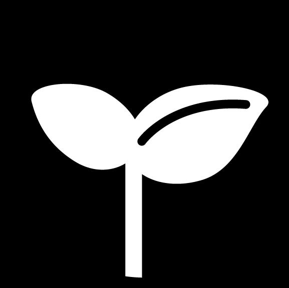 エコのアイコンイラスト(白黒・丸)