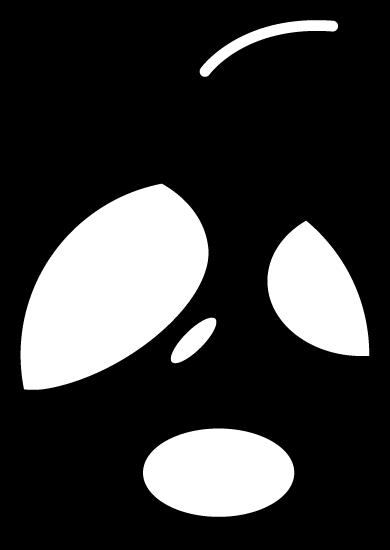 エコのアイコンイラスト(地球・白黒)