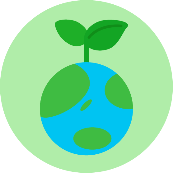 エコのアイコンイラスト 地球 丸 無料イラスト素材のillalet
