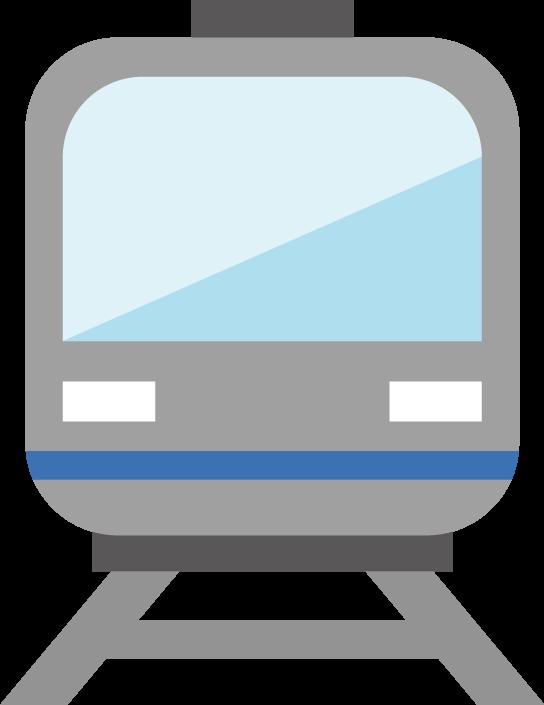 電車のアイコンのイラスト