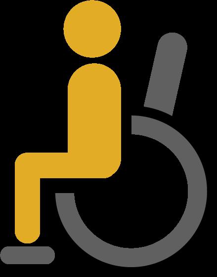車椅子のアイコンイラスト