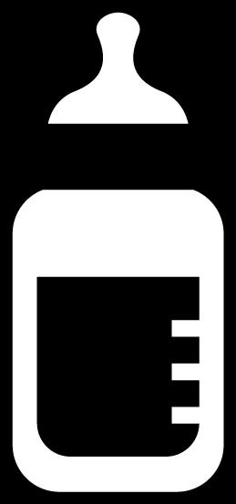 哺乳瓶のアイコンイラスト(白黒)