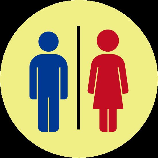 トイレのアイコンイラスト(丸)
