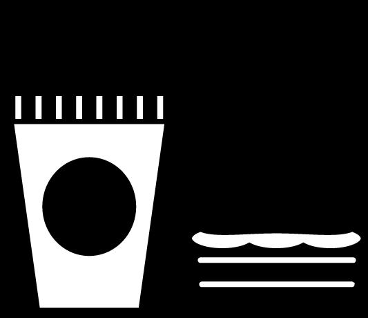 飲食のアイコンイラスト(白黒)