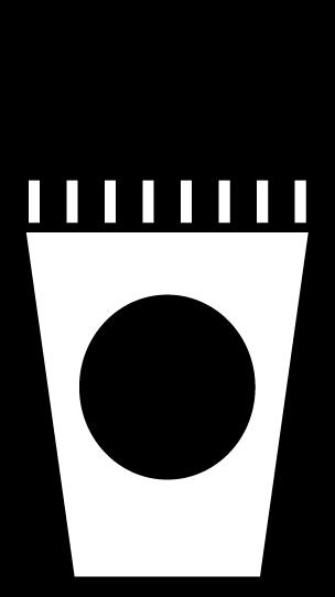 飲み物のアイコンイラスト(白黒)