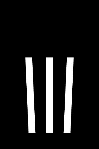 ゴミ箱のアイコンイラスト(白黒)