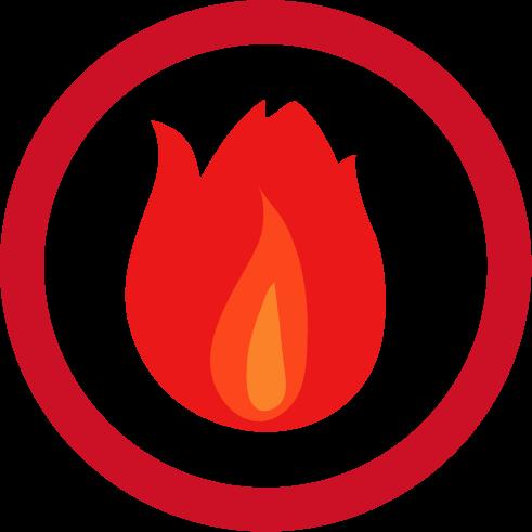 可燃・燃えるゴミのアイコンイラスト