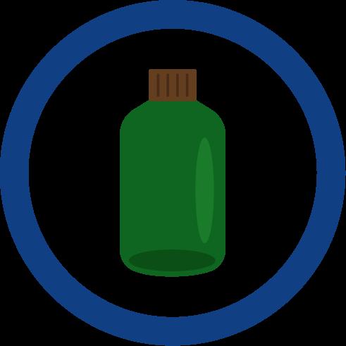 瓶ごみのマークのイラスト