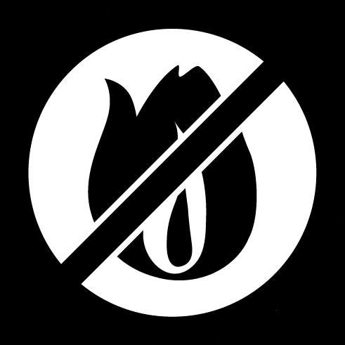 燃えないゴミのアイコンイラスト(白黒)