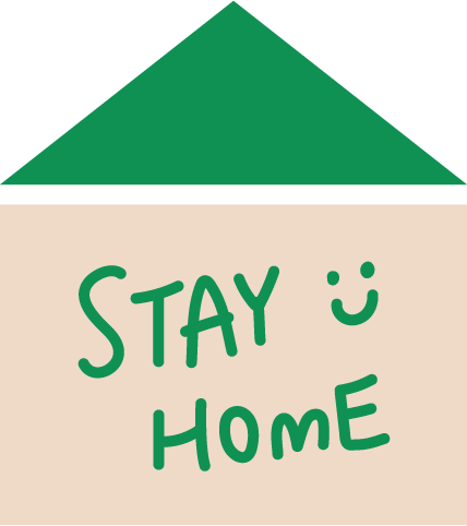「STAY HOME」アイコンイラスト