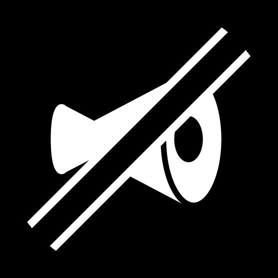 ミュートのアイコンイラスト(黒)