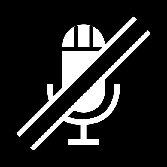 マイクミュートのアイコンイラスト(黒)