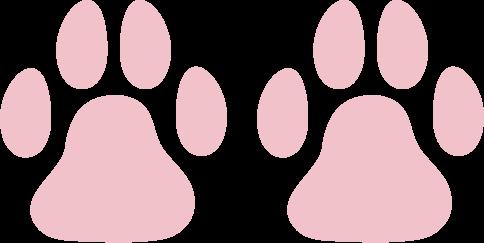 猫の足跡のアイコンイラスト(肉球)
