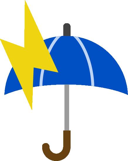 雷雨のアイコンイラスト
