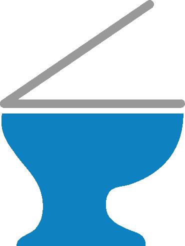 洋式トイレのアイコンイラスト1