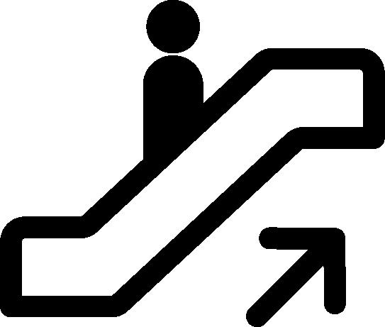 エレベーターのアイコンイラスト(上り)