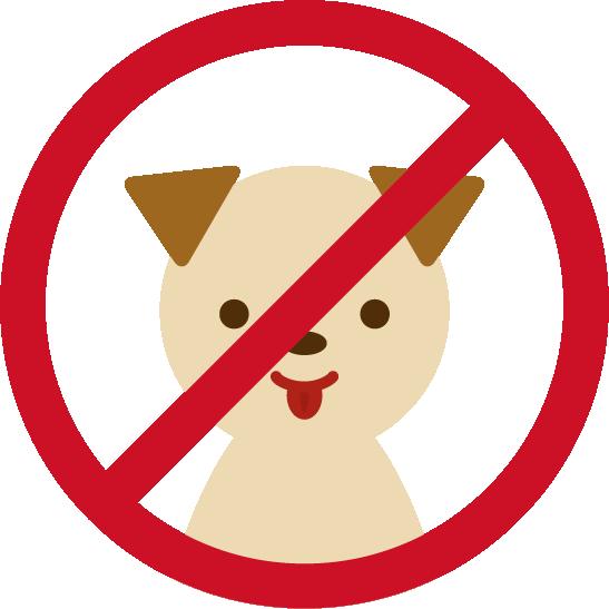 ペット不可アイコンイラスト(犬)