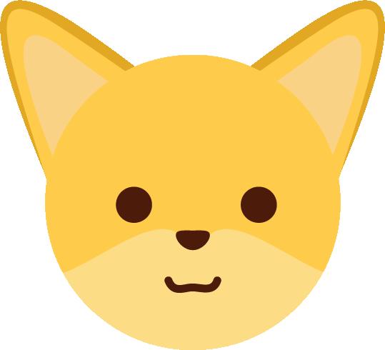 狐のアイコンのイラスト2