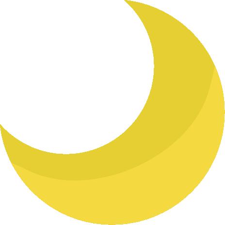 月の天気アイコンのイラスト