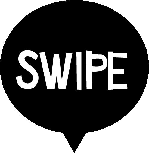SWIPEの文字アイコンのイラスト(白黒)