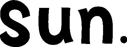 英語で日曜日(sun.)の文字のイラスト