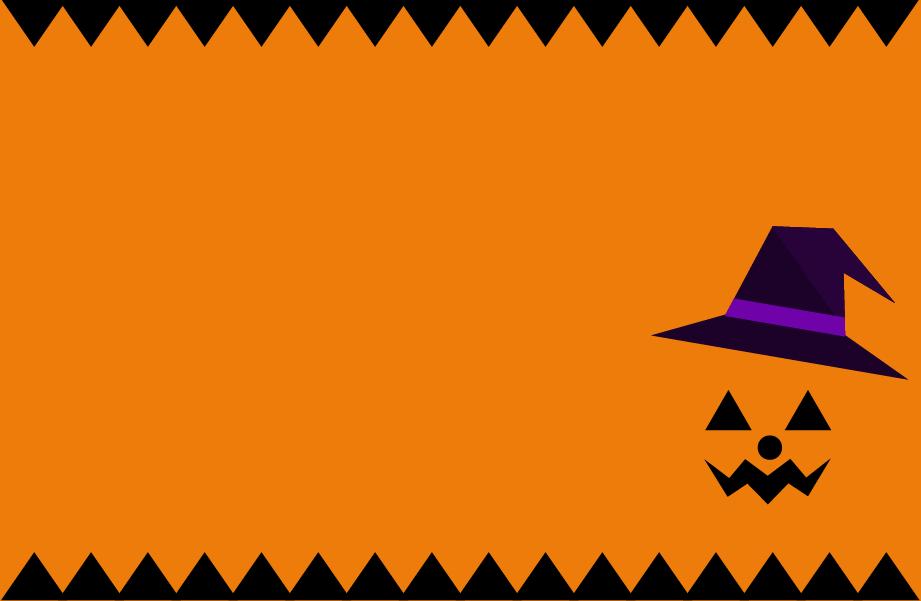 パンプキンのハロウィンフレームのイラスト